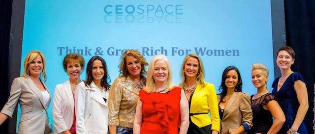 Sharon presents Think and Grow Rich for Women in a keynote presentation at CEO Space, June 2014 (Image Credit: Ken Rochon,UmbrellaSyndicate)
